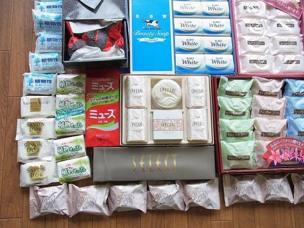 ◆大量 固形石鹸150個以上まとめてセット 資生堂 花王 牛乳石鹸_画像3