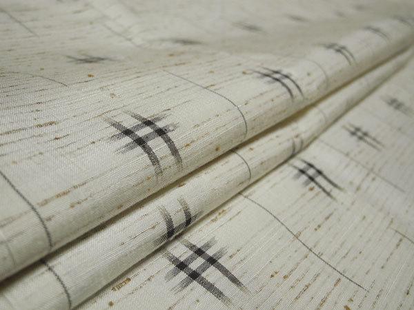 正絹 新品・未使用 伝統的工芸品 ぜんまい紬 根津儀一 仕付け糸付き ガード加工 美品 -袷-_画像6