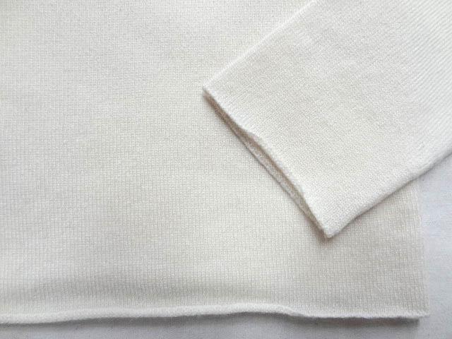 LUCIEN PELLAT FINET ルシアンペラフィネ カシミア 100 Vネック 白 ホワイト ニット マリファナ 大麻 刺繍 ロゴ レディース サイズ S _画像2
