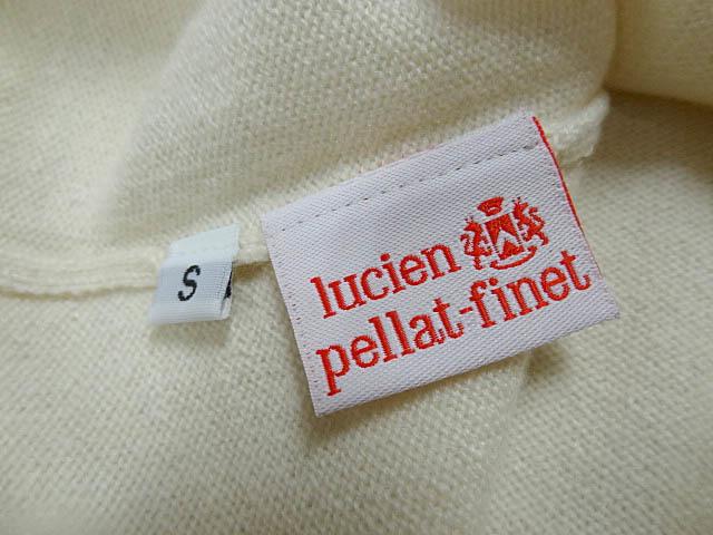LUCIEN PELLAT FINET ルシアンペラフィネ カシミア 100 Vネック 白 ホワイト ニット マリファナ 大麻 刺繍 ロゴ レディース サイズ S _画像5