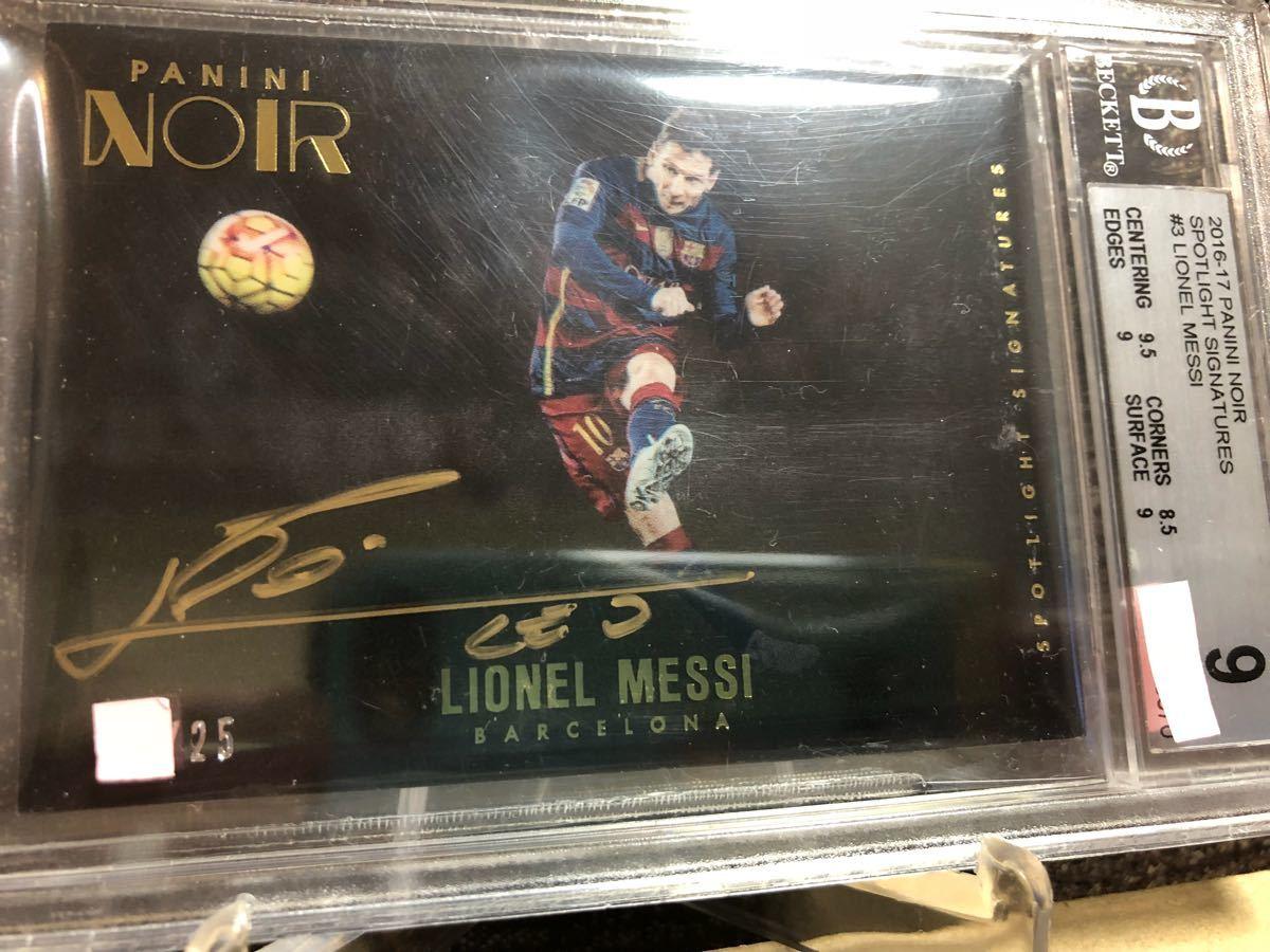 2016-17 Panini Noir Acetate Spotlight Signatures Lionel Messi Barcelona AUTO #25(メッシ直書き/金ペンオート/グレーディング済) _画像5