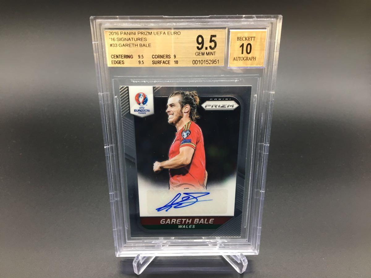 2016 Panini Prizm UEFA Euro Signature 【 Gareth Bale / ギャレス ベイル 】 Wales ウェールズ Autograph 直筆サインカード BGS