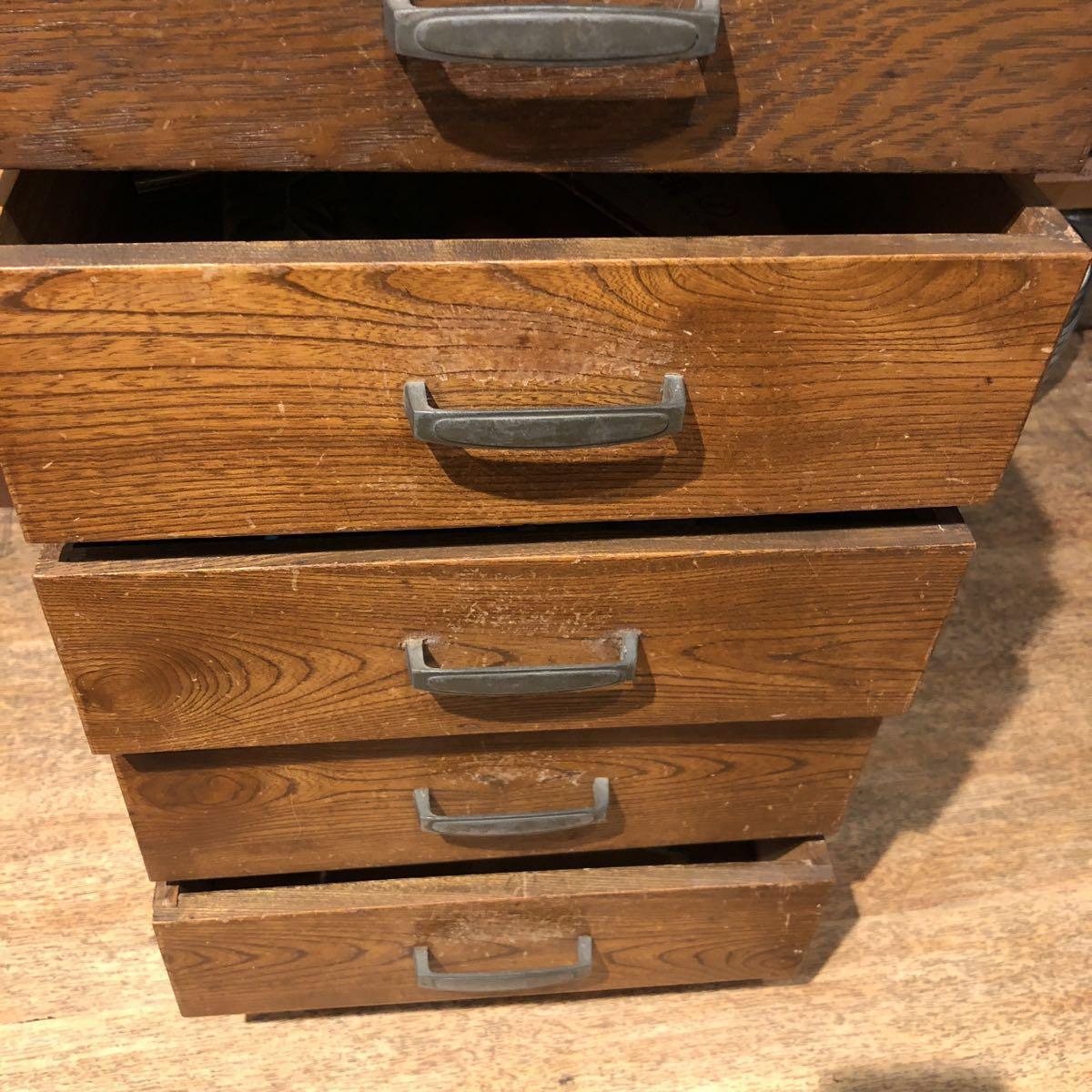 レトロ 木箱 5段 アンティーク 小引き出し 収納古道具 小物入れ_画像6