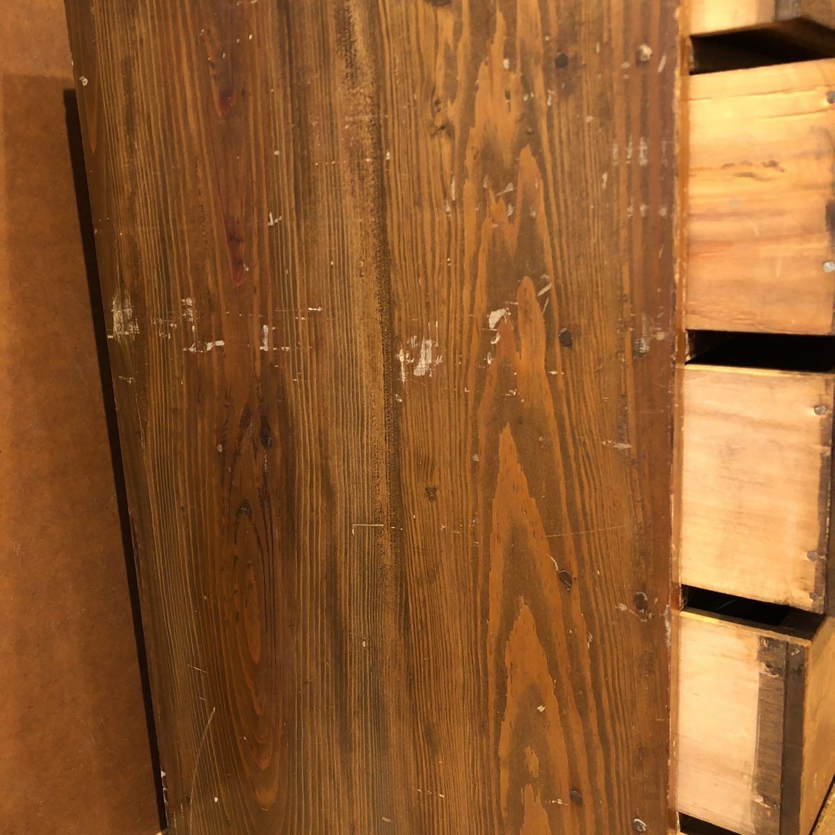 レトロ 木箱 5段 アンティーク 小引き出し 収納古道具 小物入れ_画像7
