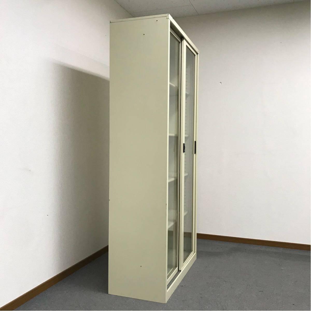 ◎PLUS ガラス引き違いキャビネット◎書庫 下置きタイプ◎ガラス戸◎オフィス 収納◎プラス◎A_画像4