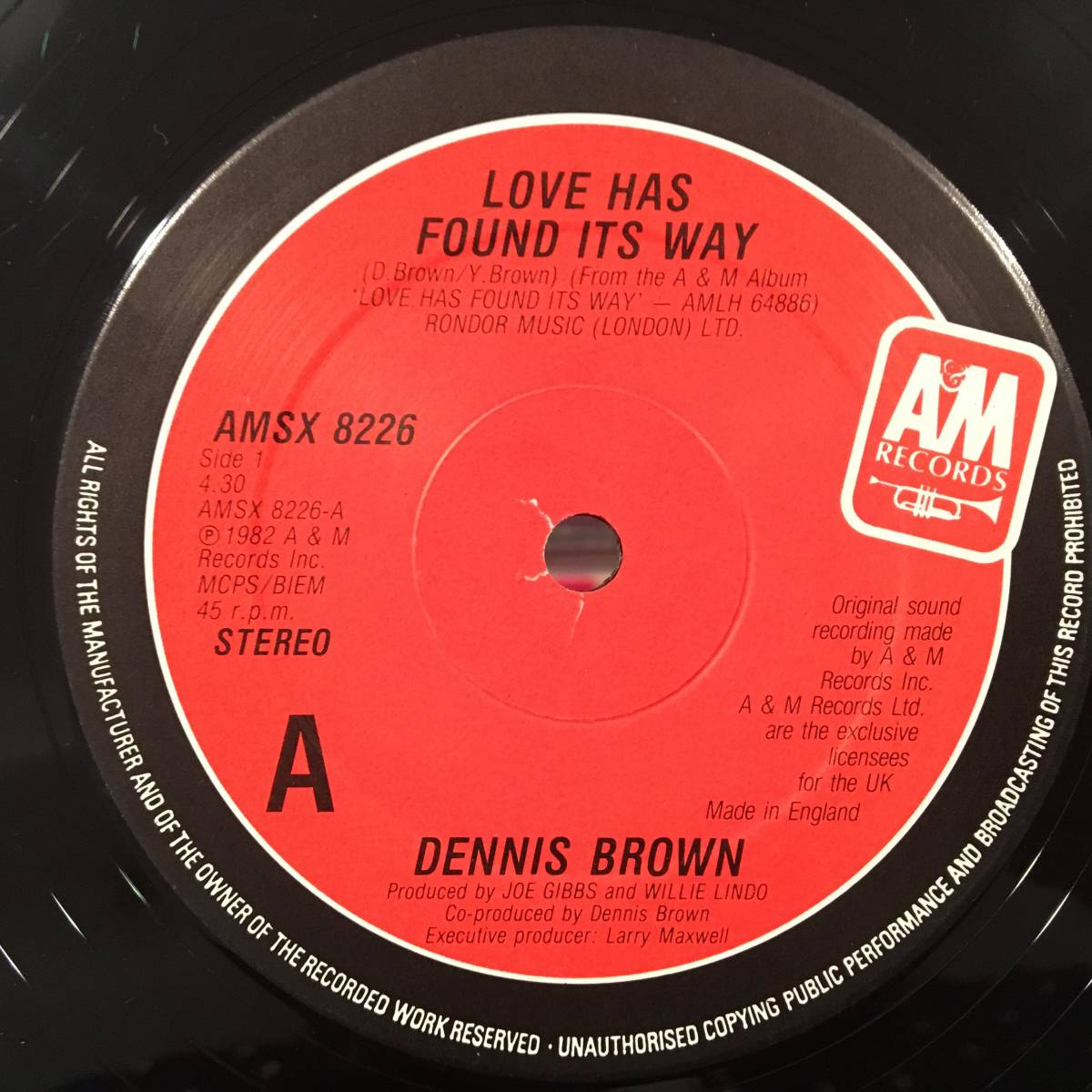 ★Dennis Brown/Love Has Found Its Way★人気LOVERS ROCK!