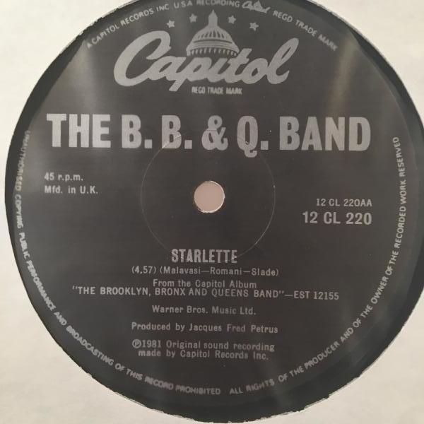 ☆The B. B & Q. Band/Starlette☆DISCO CLASSIC!_画像1