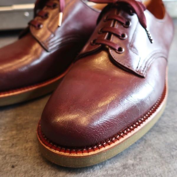 ブヒシューズ HARRODS/ハロッズ ヴィンテージ靴 25~25.5cm 4ホール/プレーントゥ/古靴/ハンドソーン/革靴/メンズ靴/レア/イングランド製_ブヒシューズ |ヴィンテージ靴