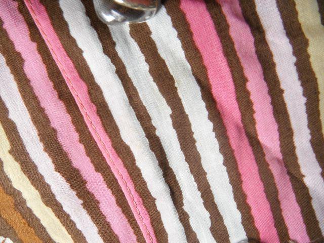 ☆レトロ古着Priere☆可愛い花柄総柄ワンピース レディース 半袖 茶ピンク☆_画像5
