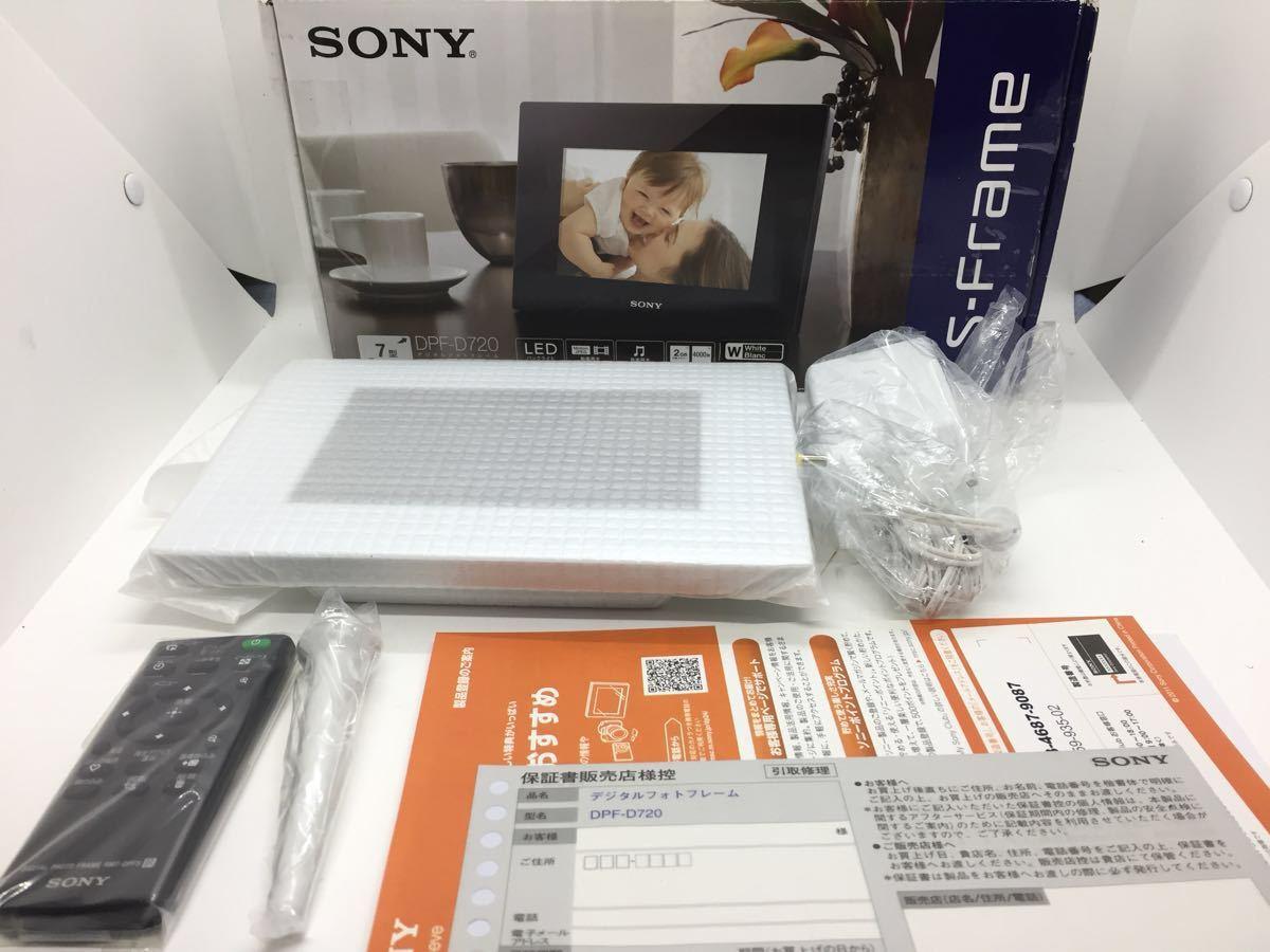 未使用品】SONY(ソニー) デジタルフォトフレーム S-Frame D720 7.0型 ...