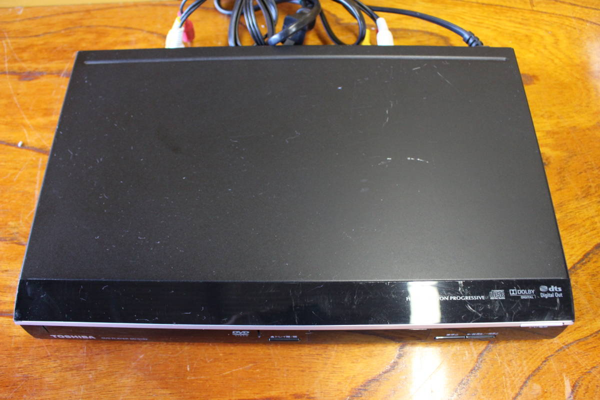 新▲ の-654 DVDプレーヤー 東芝 型番:SD-310J 通電OK 2010年製 中古品 高さ4.2cm 幅33cm 奥行21.5cm 重さ1.3kg ▲_画像5
