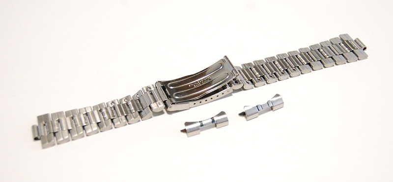 ステンレススチール製 20mm 時計ブレス/バンド/ベルト 男性用腕時計部品 デッドストック ビンテージ/ヴィンテージ MB215_画像6