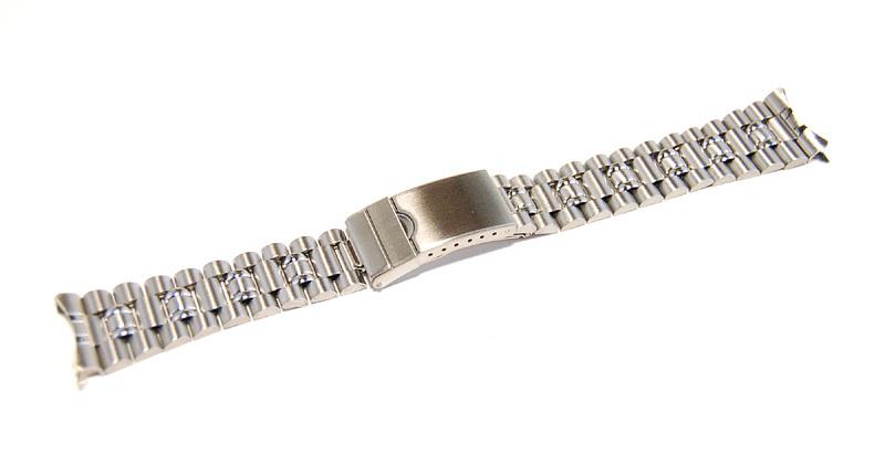 ステンレススチール製 20mm 時計ブレス/バンド/ベルト 男性用腕時計部品 デッドストック ビンテージ/ヴィンテージ MB215_画像4
