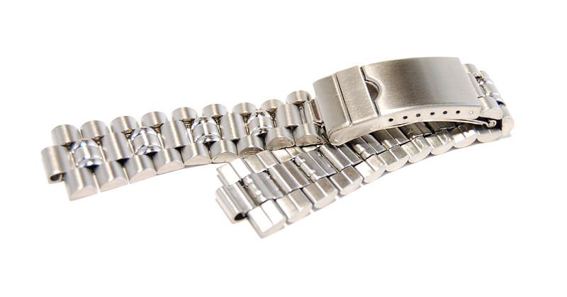 ステンレススチール製 20mm 時計ブレス/バンド/ベルト 男性用腕時計部品 デッドストック ビンテージ/ヴィンテージ MB215_画像1
