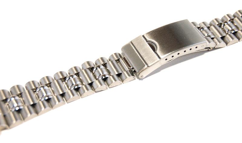 ステンレススチール製 20mm 時計ブレス/バンド/ベルト 男性用腕時計部品 デッドストック ビンテージ/ヴィンテージ MB215_画像3