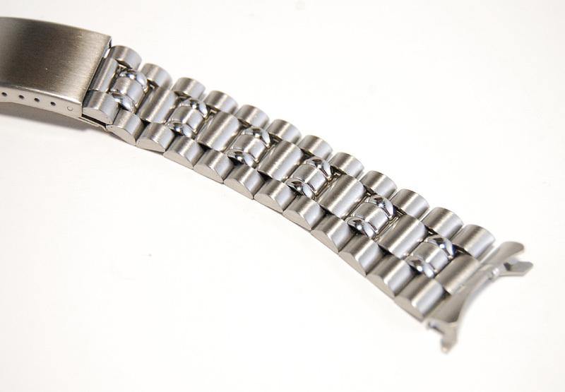 ステンレススチール製 20mm 時計ブレス/バンド/ベルト 男性用腕時計部品 デッドストック ビンテージ/ヴィンテージ MB215_画像2
