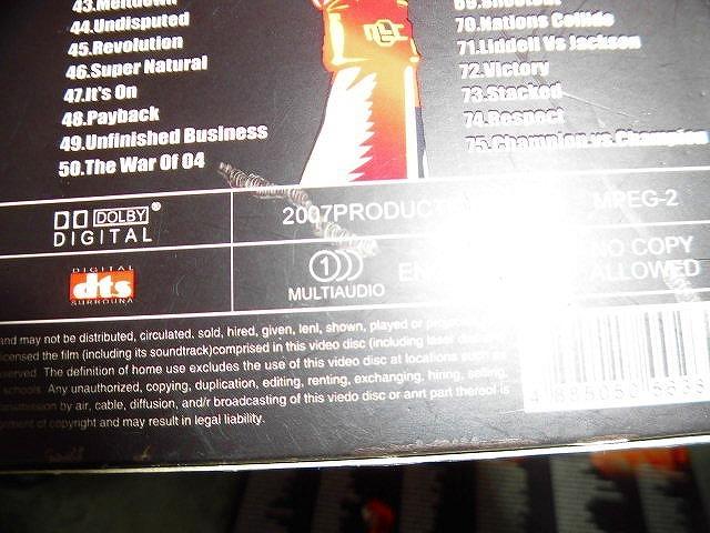 Y145 DVD 9枚組 'UFC COLLECTION Epsode 1-75 リージョン2のパソコンで見れます 海外盤 異種格闘技  ミルコ・クロコップ他多数