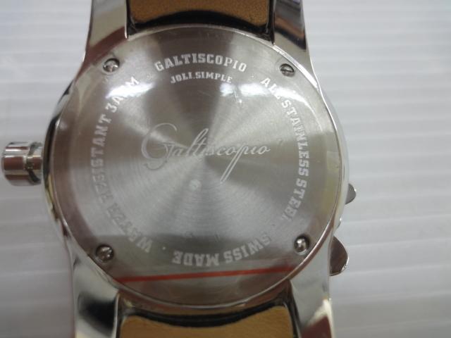 Galtiscopio /加侖三通Sukopio JOLI簡單的白色(白)皮帶施華洛世奇閃耀的錶殼輸入廢舊物品sywatch009272 編號:e290053109