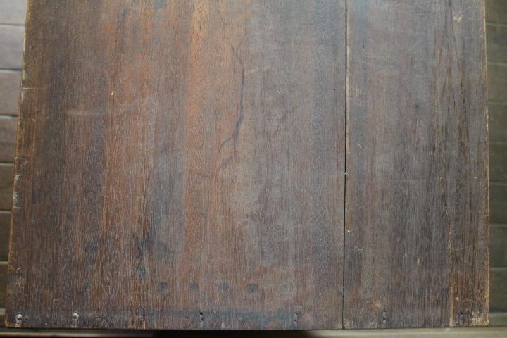【引き取り限定】即決■ビンテージ石目ガラス付き木製棚■昭和レトロ型ガラス■展示台収納飾り棚店舗什器本箱アンティーク家具古道具骨董_画像8
