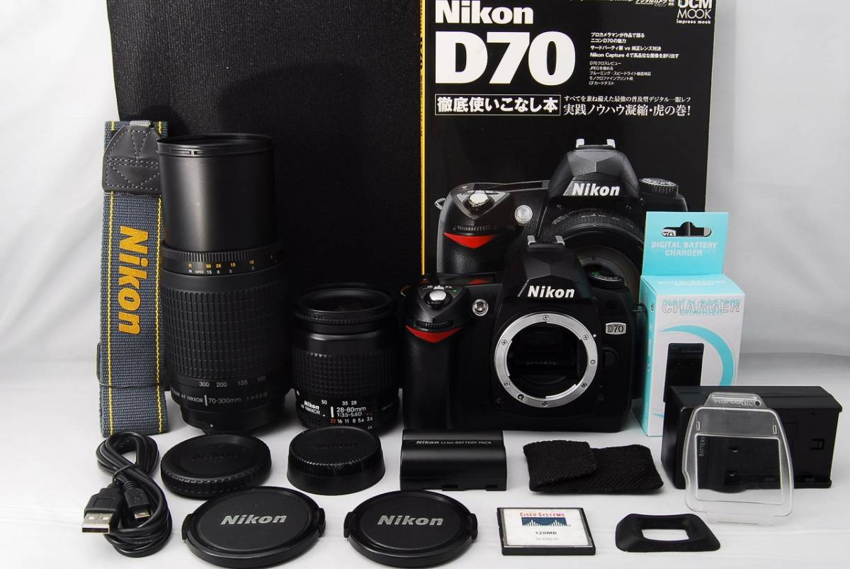 ●極上美品●初心者入門● Nikon ニコン D70 Wレンズセット 超望遠300mm すぐ撮影OK 女性ならではの丁寧な対応で安心です
