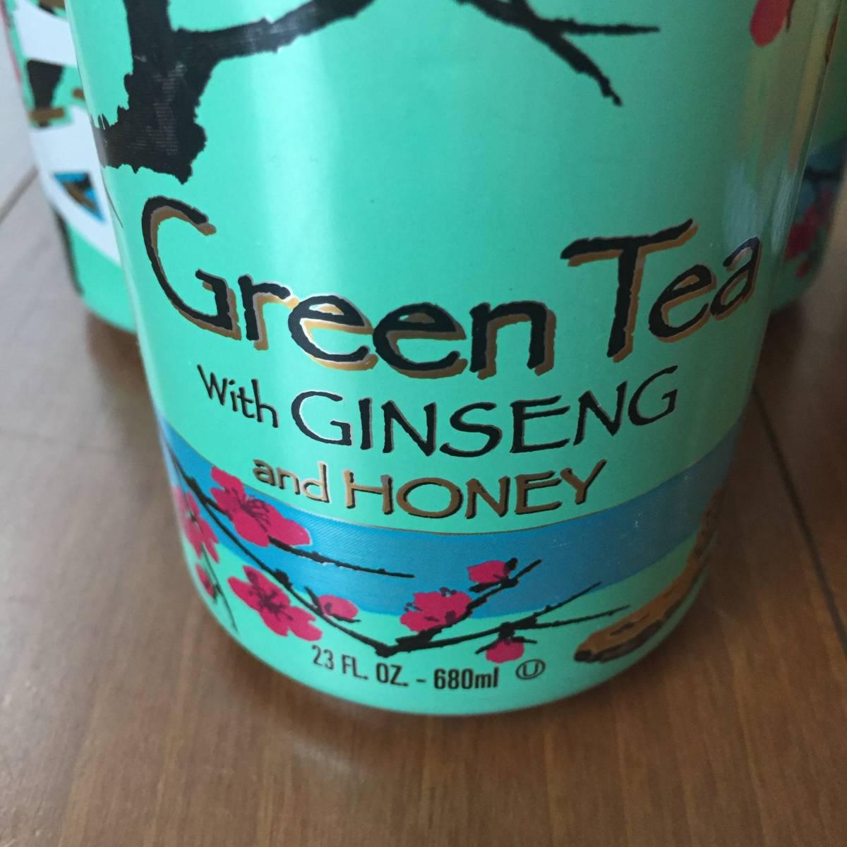 ARIZONA GREEN TEA GINSENG HONEY アリゾナ グリーン ティー ハワイ アメリカ 日本未発売 日本未入荷 海外限定 緑茶 レモンティ 680ml_画像4