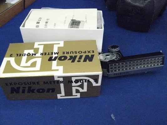 B125 カメラ レンズ Nikon ニコンF Nippon Kogaku NIKKOR-S 1:1.4 5.8 EXPOSURE METER MODEL 2 連動露出計 ニコンメーターⅡ型 本体 箱付き_画像4