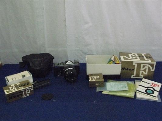 B125 カメラ レンズ Nikon ニコンF Nippon Kogaku NIKKOR-S 1:1.4 5.8 EXPOSURE METER MODEL 2 連動露出計 ニコンメーターⅡ型 本体 箱付き