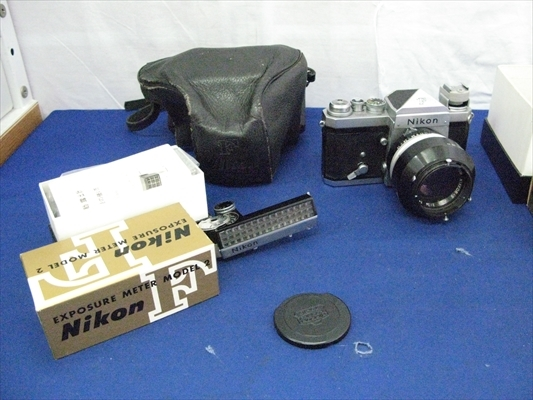 B125 カメラ レンズ Nikon ニコンF Nippon Kogaku NIKKOR-S 1:1.4 5.8 EXPOSURE METER MODEL 2 連動露出計 ニコンメーターⅡ型 本体 箱付き_画像2