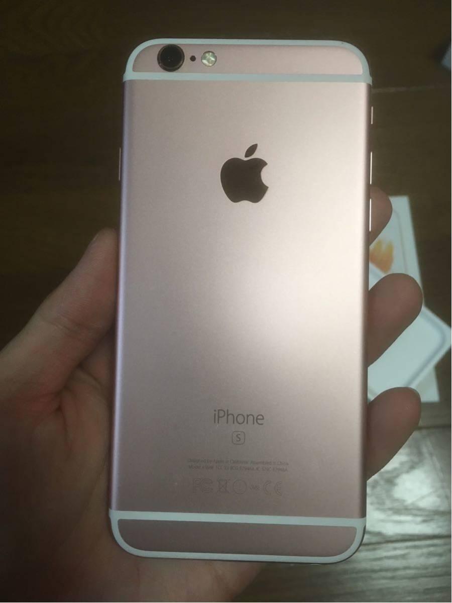 iOS10.3.3 傷少 SIMフリー iPhone6s 64GB ローズゴールド_画像2