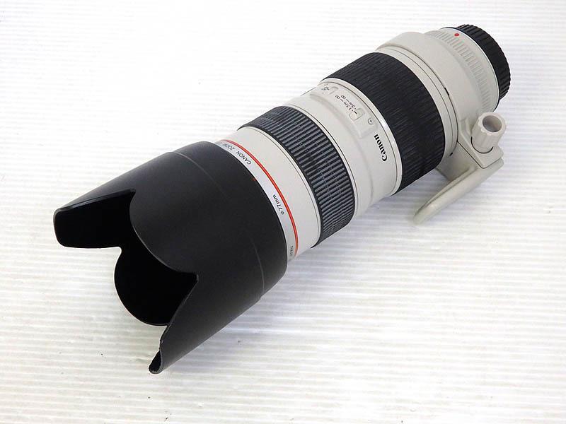 ジャンク品 CANON キャノン ZOOM LENS EF 70-200mm 1:2.8 L IS USM ULTRASONIC レンズフード付 ET-83II ズームレンズ Lレンズ