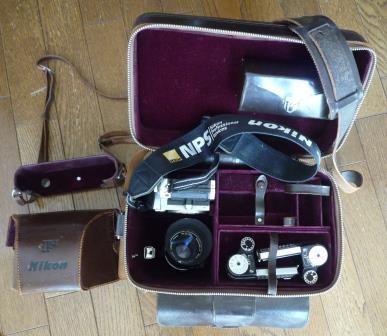 Nikon F 640初期型&専用革製ケース&バッグ&露出計2種&フォトミックファインダー&チックマーク5cmレンズ&フード&プロストラップ