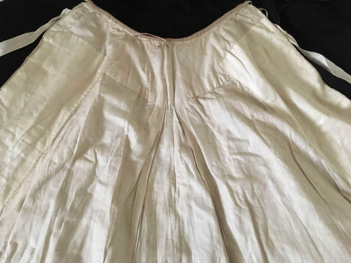 19世紀 アンティーク 子供用ケープ シルク ウール 全手縫い 服飾資料 ドール衣装、素材などに_画像6