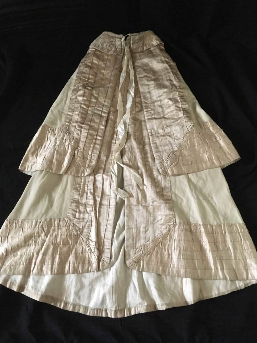 19世紀 アンティーク 子供用ケープ シルク ウール 全手縫い 服飾資料 ドール衣装、素材などに_画像1
