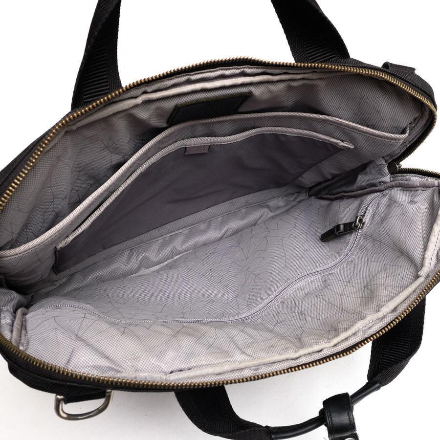TUMI トゥミ ビジネスバッグ ブリーフケース 鞄 61011DCM DALSTON Acer Slim Zip Brief ダルストン メンズ レザー 革 ナイロン c2123_画像7