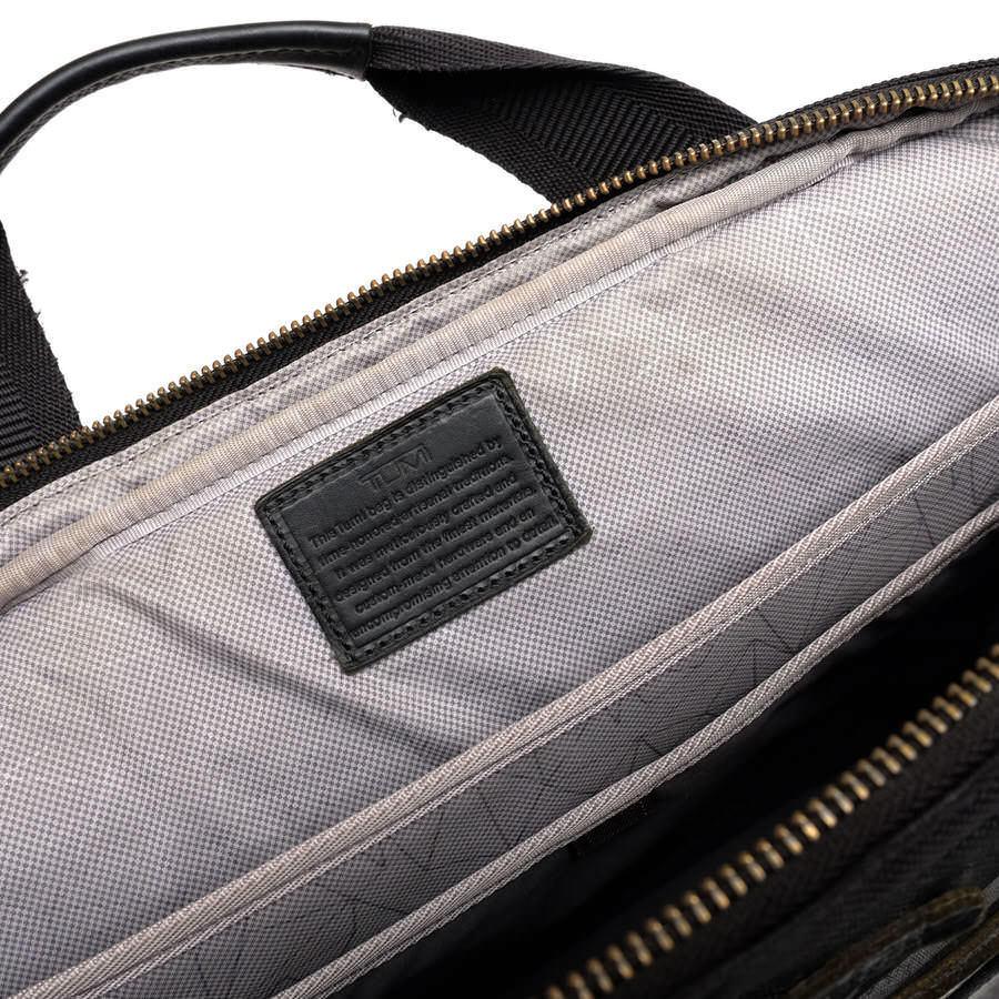 TUMI トゥミ ビジネスバッグ ブリーフケース 鞄 61011DCM DALSTON Acer Slim Zip Brief ダルストン メンズ レザー 革 ナイロン c2123_画像8