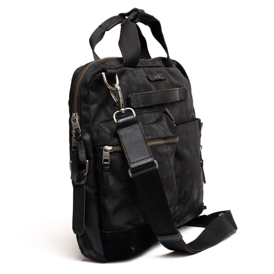 TUMI トゥミ ビジネスバッグ ブリーフケース 鞄 61011DCM DALSTON Acer Slim Zip Brief ダルストン メンズ レザー 革 ナイロン c2123_画像3