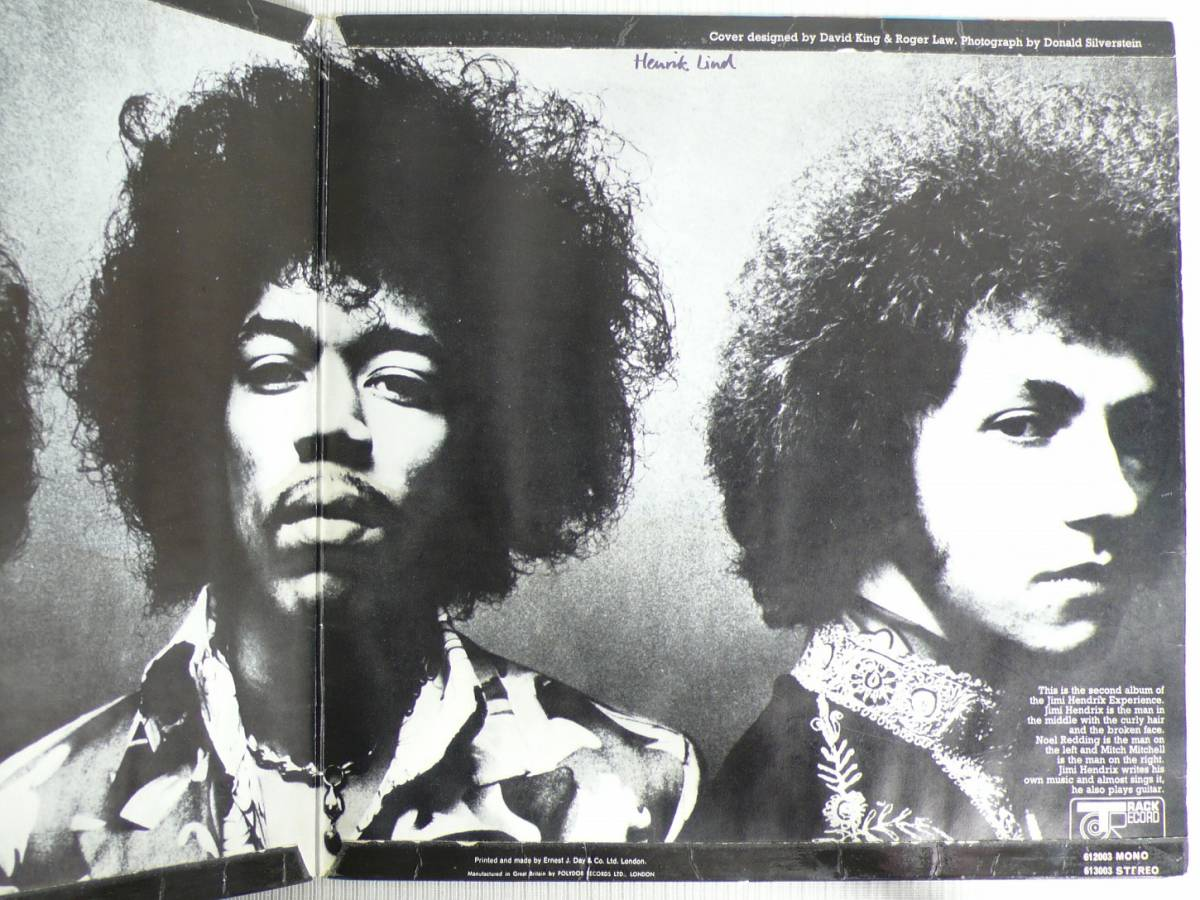 ★UK TRACK盤!! JIMI HENDRIX EXPERIENCE★AXIS/BOLD AS LOVE UK TRACK STEREO LP_画像4
