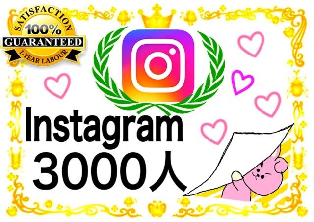 ★☆インスタグラム3000人フォロワー Instagram フォロワー 追加!【最高品質 凍結なし】祈願官製はがき 減少ゼロ★☆