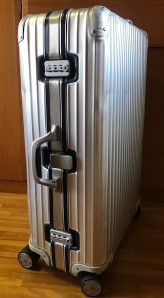 廃盤レア☆リモワ スーツケース トパーズ RIMOWA SILVER INTEGRAL TSAロック付き 4輪 シルバーインテグラル