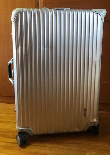 廃盤レア☆リモワ スーツケース トパーズ RIMOWA SILVER INTEGRAL TSAロック付き 4輪 シルバーインテグラル_画像2