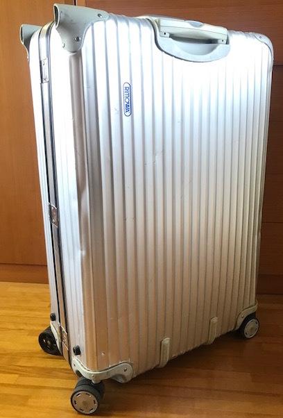 廃盤レア☆リモワ スーツケース トパーズ RIMOWA SILVER INTEGRAL TSAロック付き 4輪 シルバーインテグラル_画像3