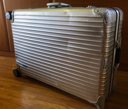 廃盤レア☆リモワ スーツケース トパーズ RIMOWA SILVER INTEGRAL TSAロック付き 4輪 シルバーインテグラル_画像7