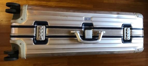 廃盤レア☆リモワ スーツケース トパーズ RIMOWA SILVER INTEGRAL TSAロック付き 4輪 シルバーインテグラル_画像6