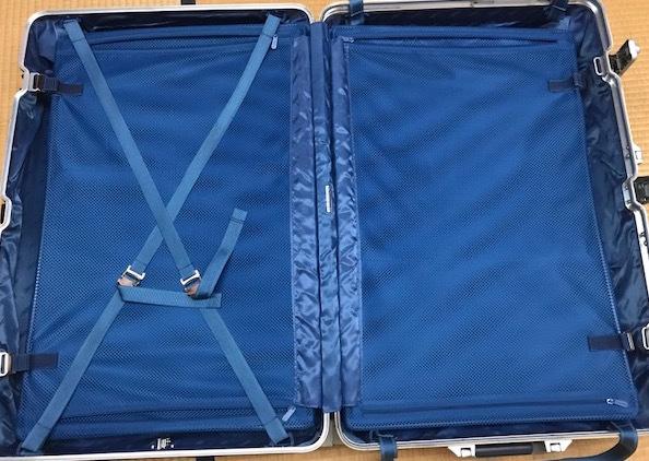 廃盤レア☆リモワ スーツケース トパーズ RIMOWA SILVER INTEGRAL TSAロック付き 4輪 シルバーインテグラル_画像8