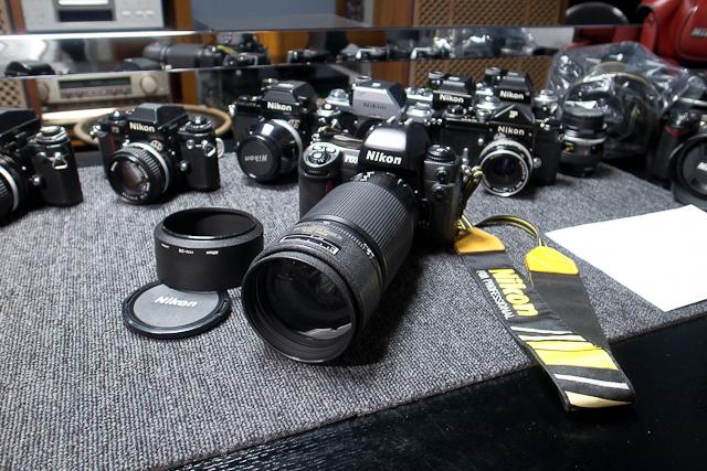 ニコン Nikon AF 80-200/2.8 ED D カメラ修理専門店にてレンズ清掃メンテ品 f100カメラボディー付き_画像2