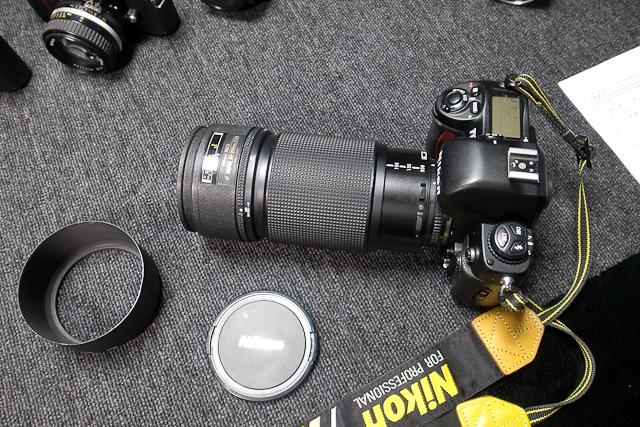 ニコン Nikon AF 80-200/2.8 ED D カメラ修理専門店にてレンズ清掃メンテ品 f100カメラボディー付き_画像3