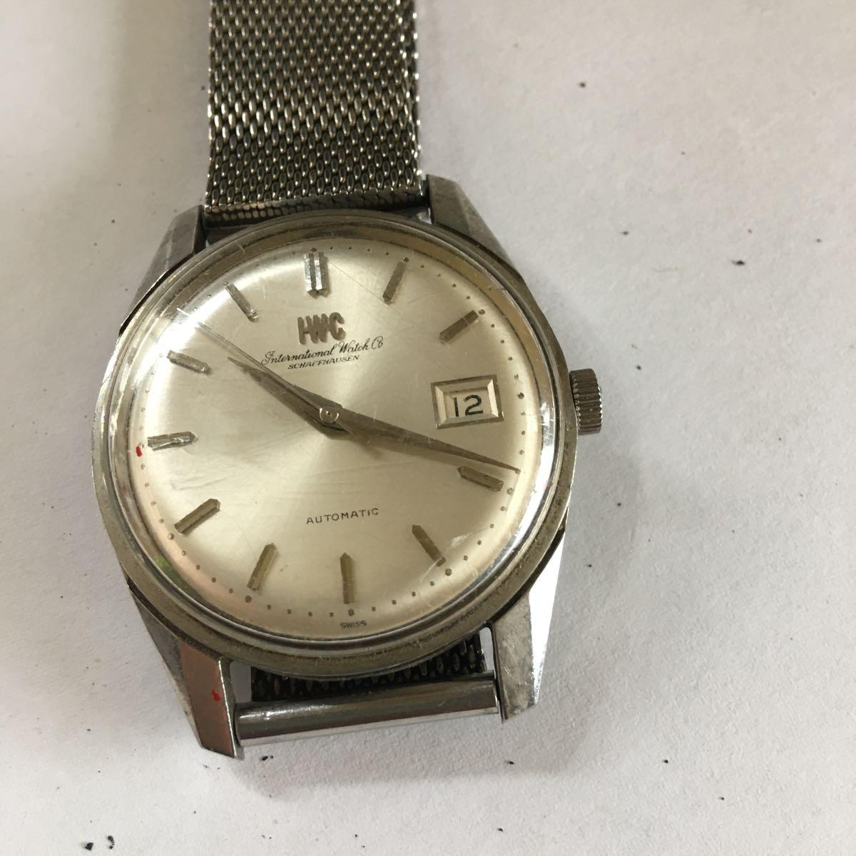 IWC インターナショナル ウォッチカンパニー SS 自動巻き デイト ラウンド アンティーク メンズ 腕時計 管理番号01_画像7