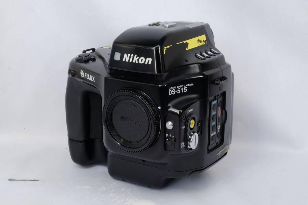 Nikon ニコン Nikkor fujix フジフィルム DS 515 デジタル カード カメラ 中古 現状品 ジャンクにて ( PCカード フジックス Fマウント