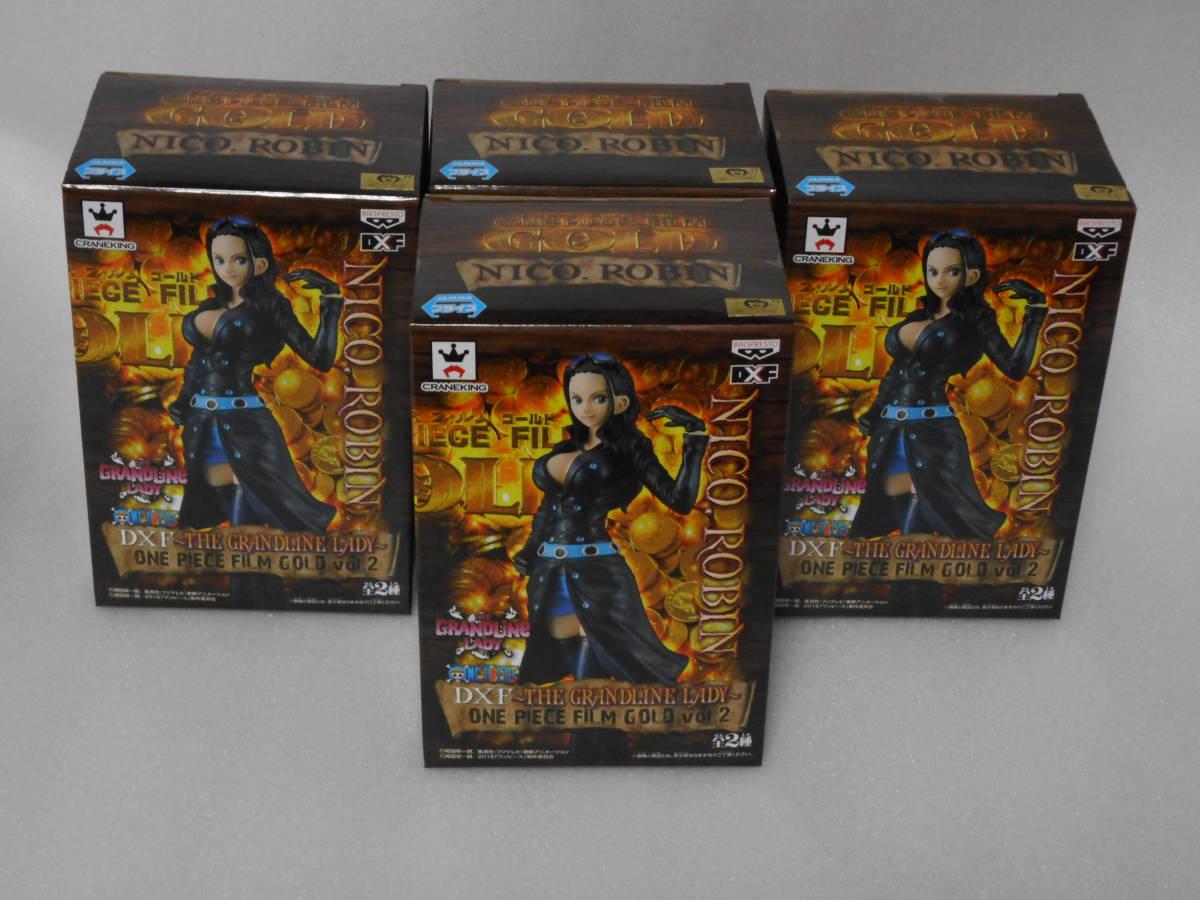 ワンピース フィギュア DXF THE GRANDLINE LADY FILM GOLD vol.2 ニコ・ロビン 4個セット 新品_画像6