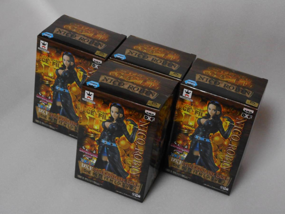 ワンピース フィギュア DXF THE GRANDLINE LADY FILM GOLD vol.2 ニコ・ロビン 4個セット 新品_画像7